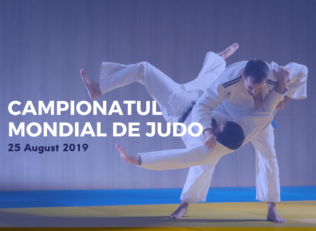 Poză cu judoka în luptă