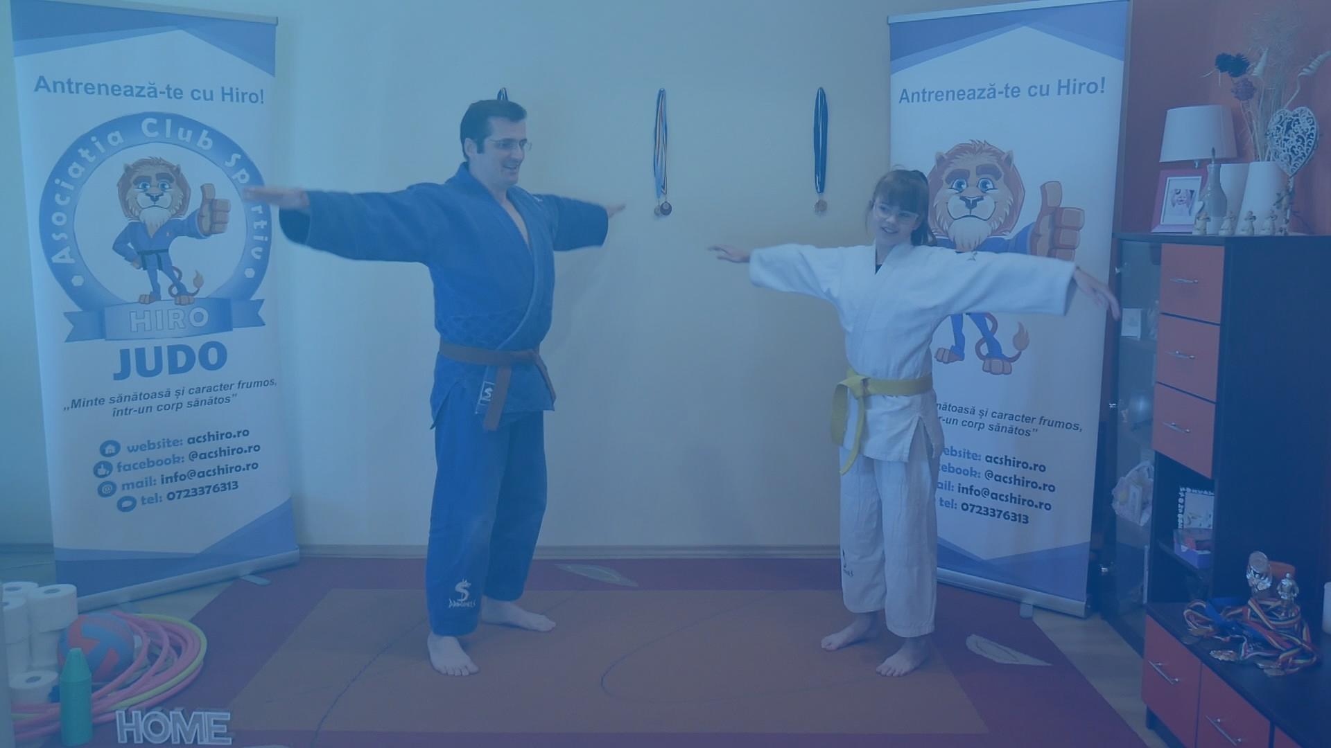 Antrenamente de judo online pentru copii